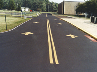 asphalt sealant with traffic paint