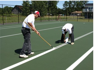 Tennis court resurfacing tennis court paint tennis court for Sport court paint