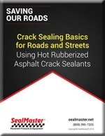 Crack Filling Roads
