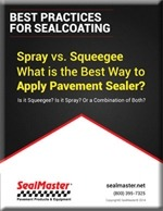 Asphalt sealing spray or squeegee